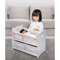 Badger Basket Two-basket White Rose Doll Crib