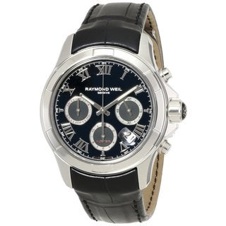 Raymond Weil Men's 'Parsifal' Black Chronograph Watch