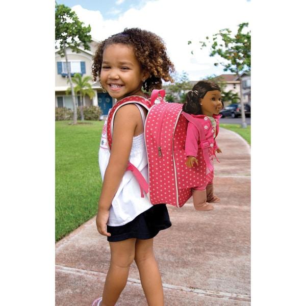 Badger Basket Star Pattern Doll Travel Backpack