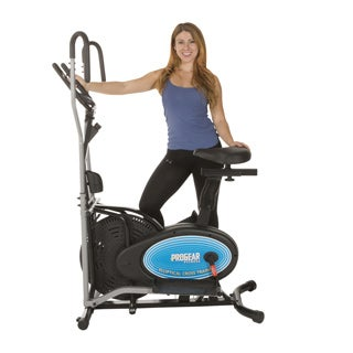 ProGear 400LS 2-in-1 Air Elliptical and Exercise Bike with Heart Pulse Sensors