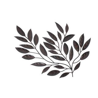 Patina Finish Leaf Wall Decor