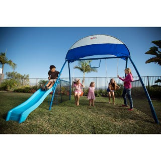 Ironkids Challenge 150 Refreshing Mist Swing Set with UV Protective Sunshade