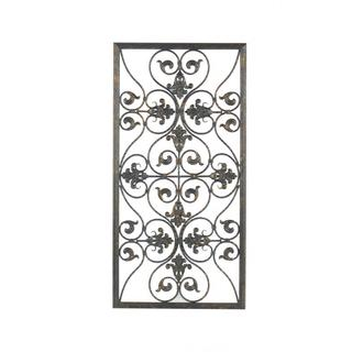 Aged Bronze Finish Scrollwork Wall Decor