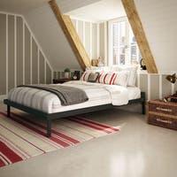 Amisco Attic Dark Brown 60-inch Queen-size Metal Bed