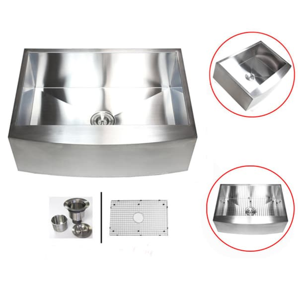 ... Stainless Steel Single Bowl Curve Apron Farmhouse Kitchen Sink Combo