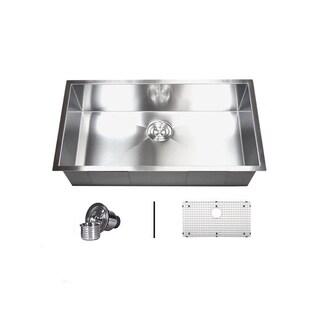 Stainless Steel 32-inch Single Bowl Undermount Zero Radius Kitchen Sink