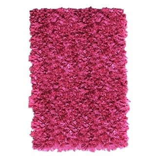 Jersey Shaggy Pink Area Rug (5' x 8')