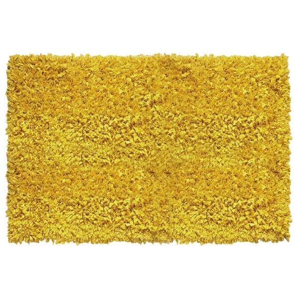 Jersey Yellow Shag Rug 5 X 8 16184141 Overstock