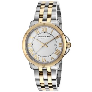 Raymond Weil Men's 'Tango' Silver Dial Two-tone Stainless Steel Watch