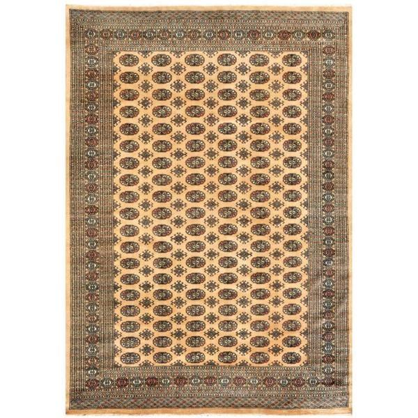 Herat Oriental Pakistani Hand-knotted Bokhara Wool Rug (8' x 9'10) - 8' x 9'10