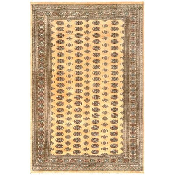 Herat Oriental Pakistani Hand-knotted Bokhara Wool Rug (7'1 x 10'6) - 7'1 x 10'6