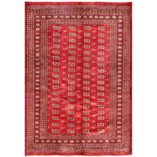 Herat Oriental Pakistani Hand-knotted Bokhara Wool Rug (6'1 x 8'9)