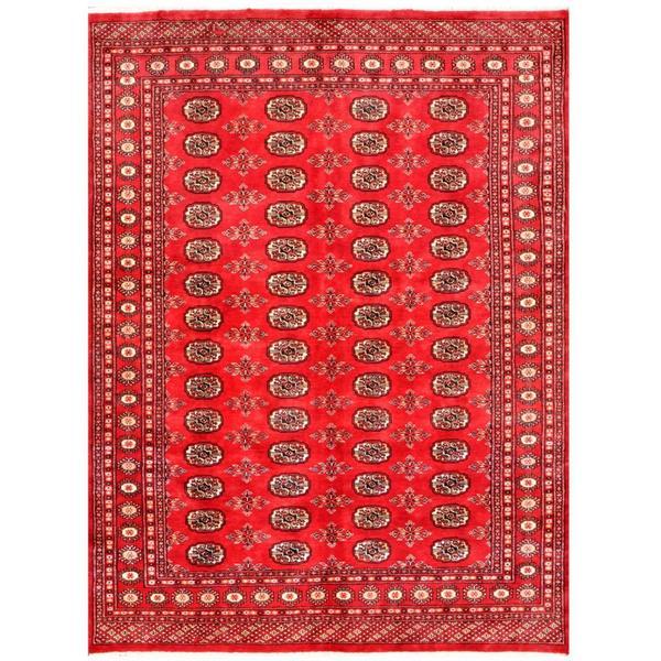 Handmade Herat Oriental Pakistani Bokhara Wool Rug (Pakistan) - 5'6 x 7'3