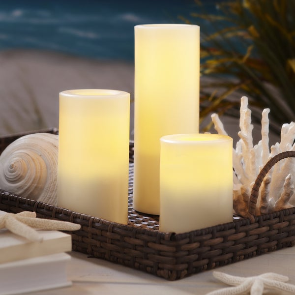 Order Home Collection 3-piece LED Outdoor Candle Set with Timer