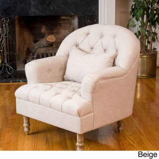 Anastasia Tufted Chair by Christopher Knight Home (Beige)