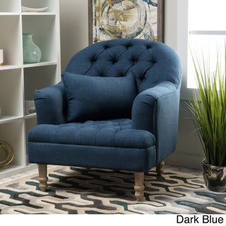 Anastasia Tufted Chair by Christopher Knight Home (Blue)