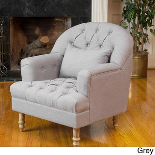 Anastasia Tufted Chair by Christopher Knight Home (Grey)
