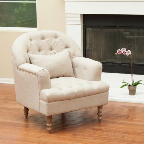 Anastasia Tufted Armchair by Christopher Knight Home