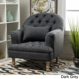 Anastasia Tufted Chair by Christopher Knight Home (Dark Grey)