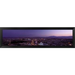 Sunset, Las Vegas, Nevada' Framed Panoramic Photo
