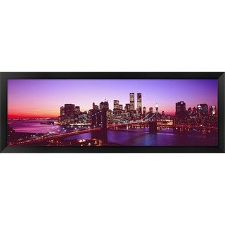 'Brooklyn Bridge, NYC' Framed Panoramic Photo