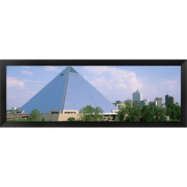 'The Pyramid, Memphis, Tennessee' Framed Panoramic Photo - Multi