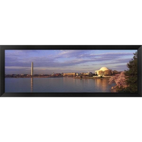 'Spring, Tidal Basin, Washington DC' Framed Panoramic Photo