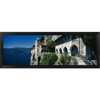 'Santa Caterina del Sasso, Lake Maggiore, Italy' Framed Panoramic Photo