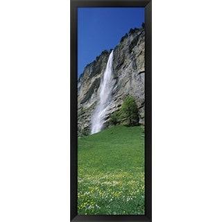 'Murrenbach Falls, Lauterbrunnen Valley, Switzerland' Framed Panoramic Photo