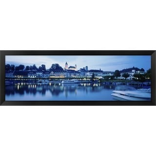 'Lake Zurich, Switzerland' Framed Panoramic Photo