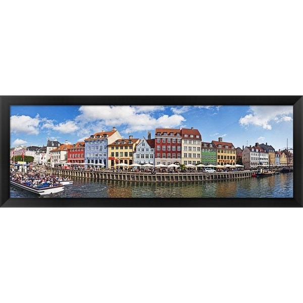 'Nyhavn, Copenhagen, Denmark' Framed Panoramic Photo