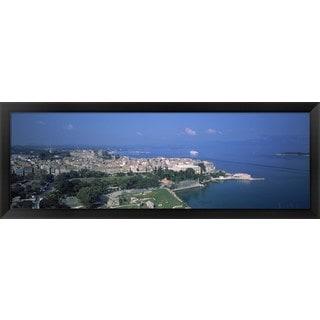 'Corfu, Greece' Framed Panoramic Photo