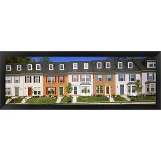 'Townhouse, Owings Mills, Maryland' Framed Panoramic Photo