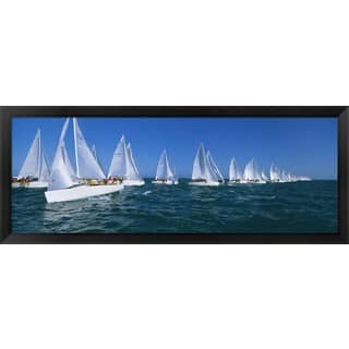 'Sailboat racing in the ocean, Key West, Florida ' Framed Panoramic Photo|https://ak1.ostkcdn.com/images/products/8976762/Sailboat-racing-in-the-ocean-Key-West-Florida-Framed-Panoramic-Photo-P16184216.jpg?impolicy=medium