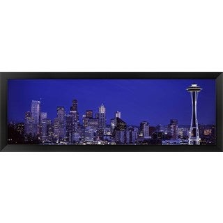'Seattle, Washington State' Framed Panoramic Photo