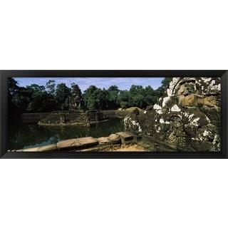 'Neak Pean, Angkor, Cambodia' Framed Panoramic Photo