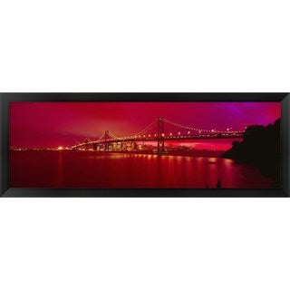 'Bay Bridge, San Francisco, California' Framed Panoramic Photo