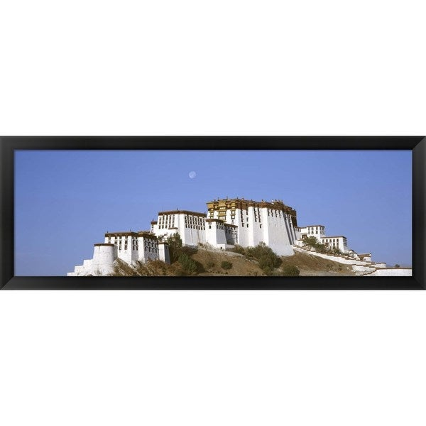 'Potala Palace Lhasa Tibet' Framed Panoramic Photo - Blue/White