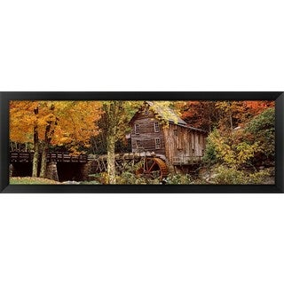 'Glade Creek Grist Mill, Babcock State Park, West Virginia' Framed Panoramic Photo