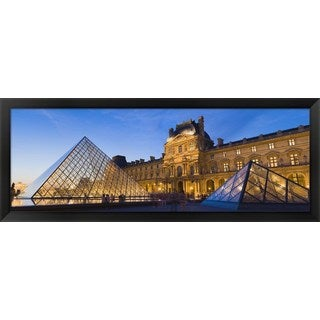 'Louvre Pyramid, Paris, France' Framed Panoramic Photo