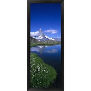 'Riffelsee, Matterhorn, Switzerland' Framed Panoramic Photo
