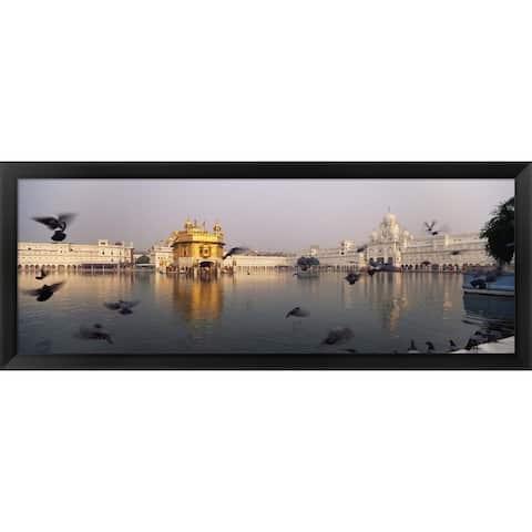 'Golden Temple, Amritsar, India' Framed Panoramic Photo