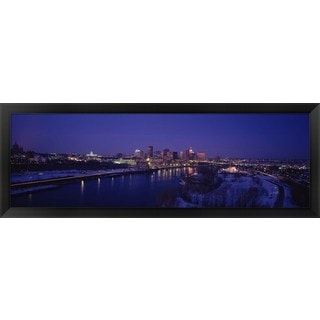 'Mississippi River, Minneapolis and St Paul, Minnesota' Framed Panoramic Photo