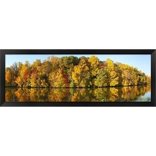 'Strawbridge Lake, Moorestown, New Jersey' Framed Panoramic Photo