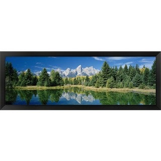 'Schwabachers Landing, Grand Teton National Park, Wyoming' Framed Panoramic Photo