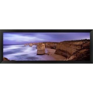 'Twelve Apostles Sea Rocks, Victoria, Australia' Framed Panoramic Photo