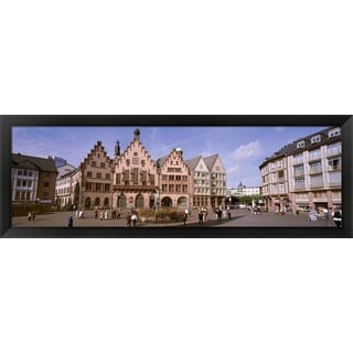 'Roemer Square, Frankfurt, Germany' Framed Panoramic Photo