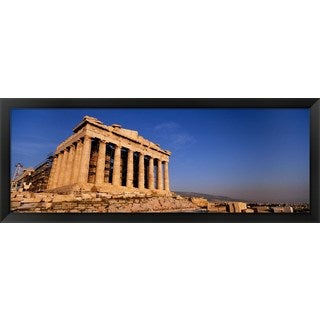 'Ruins of a temple, Parthenon, Athens, Greece' Framed Panoramic Photo