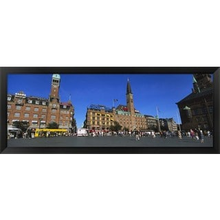 'City Hall Square, Copenhagen, Denmark' Framed Panoramic Photo