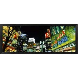 'Shinjuku Ward, Tokyo, Japan' Framed Panoramic Photo